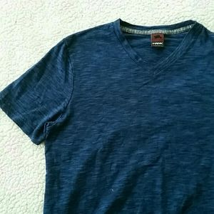 (Tony Hawk) Blue V-neck Fitted T-shirt